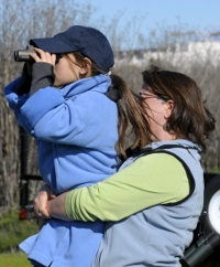 Family birding fun at the San Francisco Bay Flyway Festival. © 2010 Dave McMullen